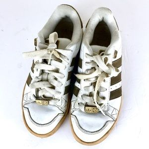 Vintage white brown Adidas